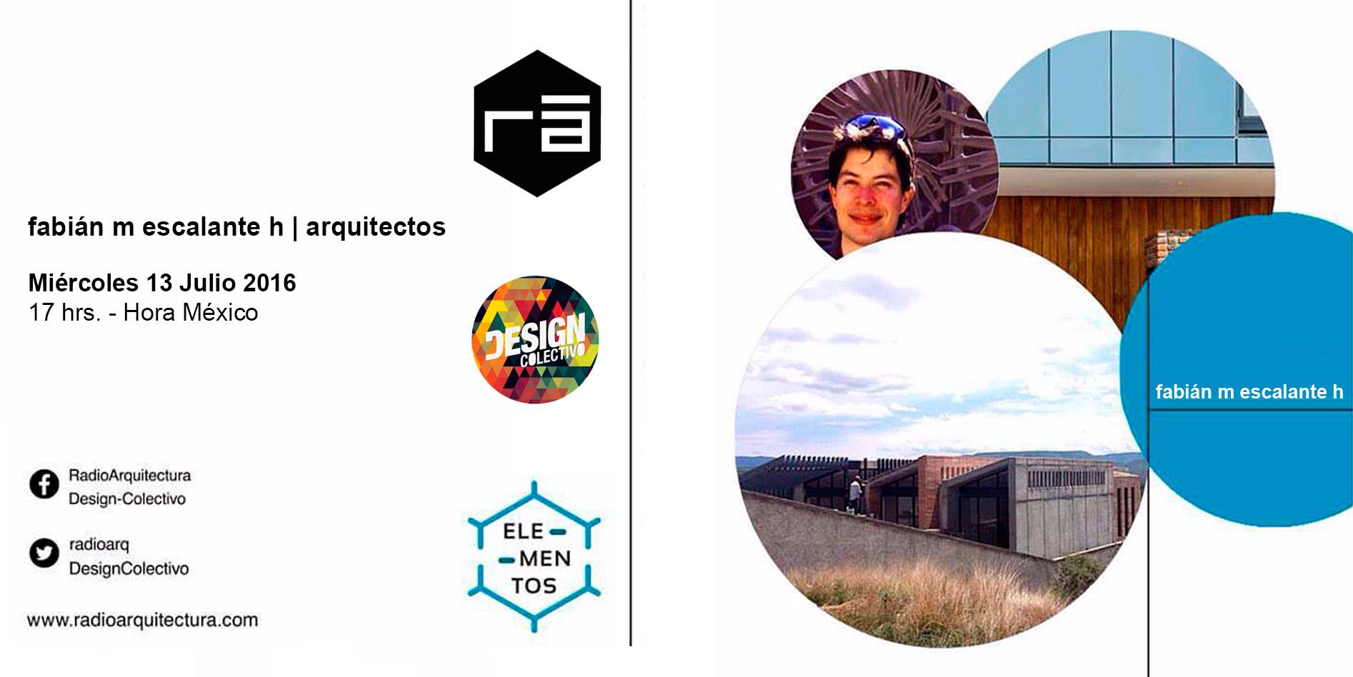 E arquitectos -Plática en el programa ELEMENTOS de RadioArquitectura